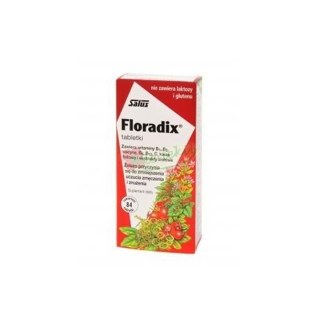 FLORADIX Żelazo, witaminy i kwas foliowy /84 tabletki