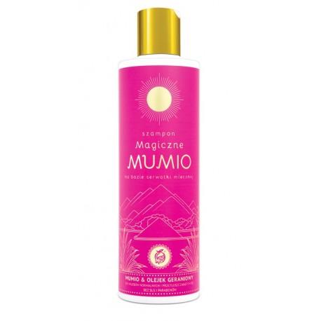 Szampon Magiczne Mumio & olejek geraniowy na bazie serwatki mlecznej WŁOSY WYPADAJĄCE, PROBLEMATYCZNA SKÓRA GŁOWY