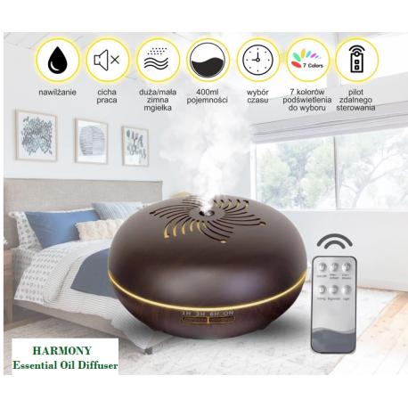 HARMONY - Ultrasonic Essential Oil Diffuser / nawilżacz powietrza, dyfuzor do aromaterapii ( kolor jasny) Planet Organic