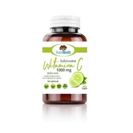 Buforowana Witamina C 1000 mg z dziką różą i cytrusowymi bioflawonoidami 90 tabletek Planet Health