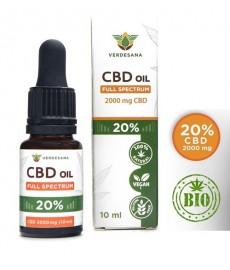 CBD 20% Olejek z konopi 2000mg  30 ml  Full Spectrum  Verdesana   Ekstrakt Konopny