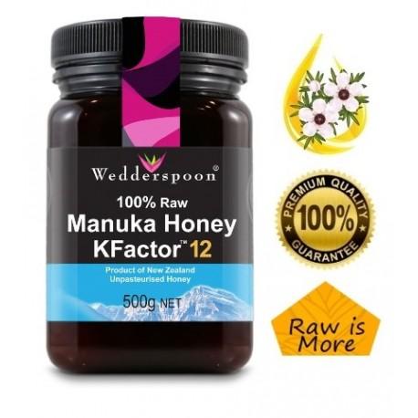100% Surowy Miód Manuka KFactor 12+ 500 g