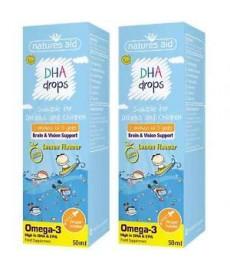 OMEGA-3 DHA i EPA  w kroplach dla dzieci i niemowląt od 3 miesiąca 50 ml   Nature's Aid
