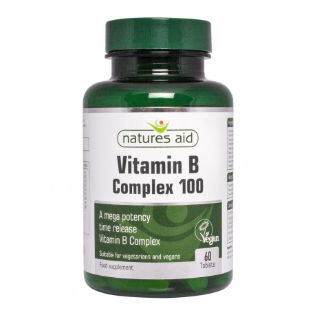 Witamina B Complex 100mg Mega Potency 60 tabl.  Nature's Aid