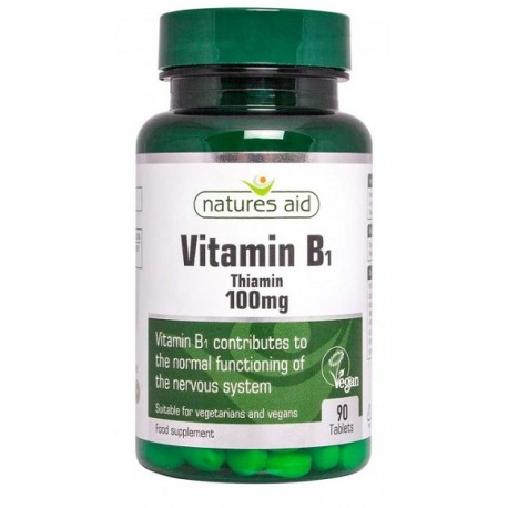 Witamina B1 100mg (tiamina) 90 tabl.  Nature's Aid