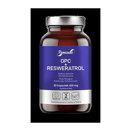 OPC + Reseratrol 50 kapsułek  Antyoksydanty  Panaseus