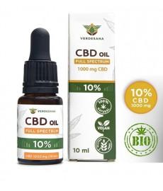 CBD 10% Olejek z konopi 1000mg  30 ml  Full Spectrum Verdesana   Ekstrakt Konopny