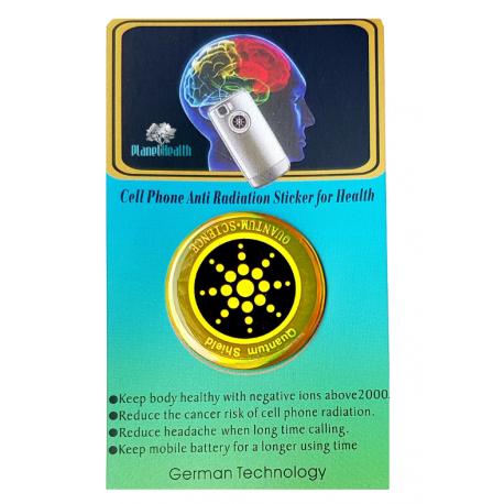 Odpromiennik Tarcza Kwantowa - Quantum Shield Gold - Nano Technology - neutralizujący promieniowanie telefonu komórkowego