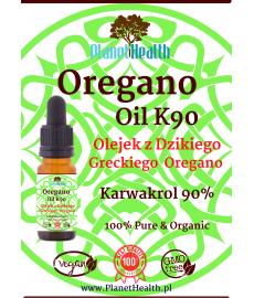 OreganOil K90 - 100% Olej z Greckiego Dzikiego Oregano (90% Karwakrol) 10ml Grzyby i Pasożyty Bez Szans