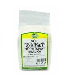 """Sól Kłodawska naturalna kamienna miałka """"Kłodawa"""" niejodowana 1kg"""
