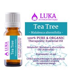 TEA TREE Olejek z Drzewa Herbacianego 10 ml (Malaleuca alternifolia, Australia) Pure & Organic LUKA Aromatherapy