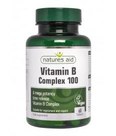 Witamina B Complex 100mg Mega Potency 60 tabl.  Nature's Aid
